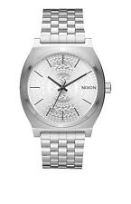 *BRAND NEW* NIXON WATCH THE TIME TELLER ALL SILVER / STAMPED A0452129 NIB!