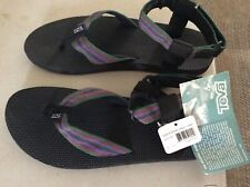 New Teva Men's Original Sandal Size 12 Urban Black 4 Green 1003941 UFGR