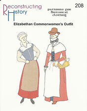 Schnittmuster RH 208: Elizabethan Common Women's Outfit