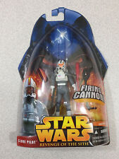 STAR WARS REVENGE OF THE SITH #01-34 CLONE PILOT WHITE WITH FIRING CANNON