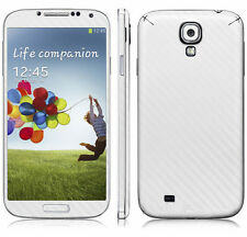 2 X White Carbon Fibre Skin Sticker Full Body Wrap for Samsung Galaxy S4 i9500
