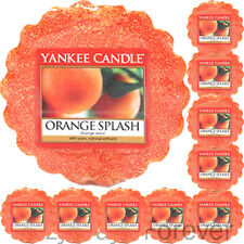 10 YANKEE CANDLE WAX TARTS Orange Splash TARTLETS MELTS oranges citrus fruit