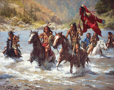 Howard Terpning CAPTURING THE CHIEF'S COAT Native American, giclee canvas #41/90