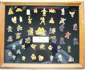 3x Framed McDonalds Pin sets McDonaldland proof/2500 +96 Cinderella & Snow White