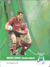 HEINEKEN CUP RUGBY MEDIA GUIDE 2006/7 LONDON WASPS WINNERS