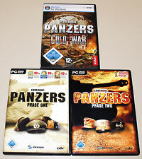 3 PC SPIELE SAMMLUNG - CODENAME: PANZERS - PHASE ONE & TWO & COLD WAR CRISIS