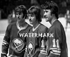 Buffalo Sabres French Connection Line Robert Martin Perreault 8 X 10 Photo