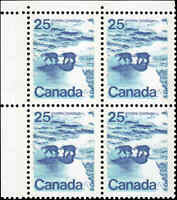 Mint Canada 25c 1972 TAGGED NF Block of 4 Scott #597 Stamps Never Hinged