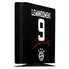 Sony Playstation 4 PS4 Slim Folie Aufkleber Lewandowski #9 FC Bayern München