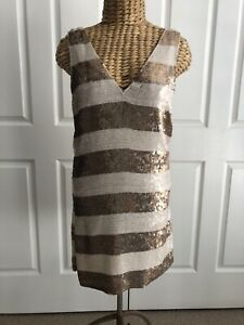 PARKER STUNNING BEADED DRESS  SZ SMALL AU 8-10 US 4-6 UK 8-10 NEW WITH TAGS