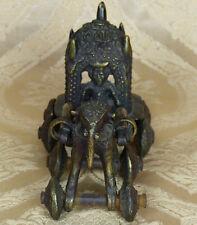 Indien Bastar Statuette Hindu Tempel Kunst Elefant zieht Gottheit, EV17-0001