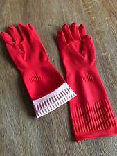 Washing Up Rubber Gloves Large Long Sleeve Waterproof Household Kitchen Uk New