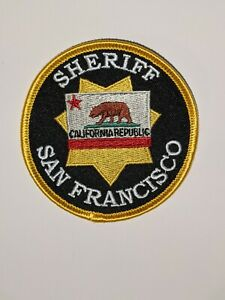 Defunct style San Francisco Sheriff full size uniform reproduction patch