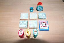 10 Stempel+Stempelkissen für Kinder Spiel HELLO KITTY