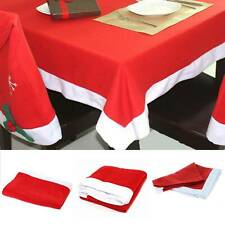 Large Christmas Table cloth Table Decoration Festive Xmas Wipe Clean Red santa