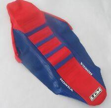 SEAT COVER GRIPPER red & blue HONDA CRF 250 CRF 450, 2009 - 2012,ULTRAGRIP