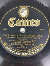 """10"""" 78 RPM Record-Varsity Eight-Last Night on the Back Porch/Cameo 400"""
