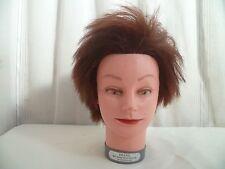 Ancienne tete d'étude a coiffer cheveux 100 % naturels