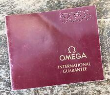 OMEGA Vintage Guarantee Certificate Booklet Speedmaster 861 Seamaster 300 1989