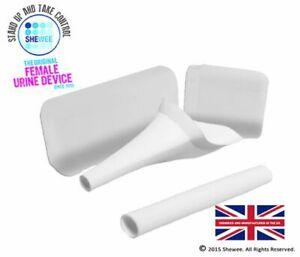 Shewee Flexi + Case - The ORIGINAL Female Urination Device - White
