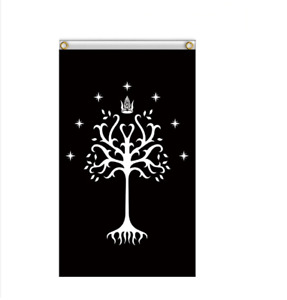 Lord of the Rings Gondor Flag White Tree Collectible