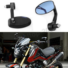 Black Custom Handle Bar End Motorcycle Rear View Side Mirrors For Honda GROM 125