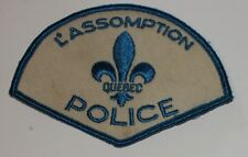 L'Assomption Police Quebec Canada Canadian PD patch