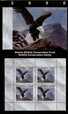 Alberta #5 2000 Bald Eagle Conservation Stamp Mini Sheet Of 4 In Folder Nh