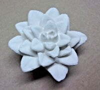 "Latex flower mold plaster concrete garden mould 4""W x 1"" High"