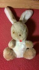 "Vintage 17"" Atlanta Novelty Gerber TAN WHITE BUNNY RABBIT plush stuffed animal t"