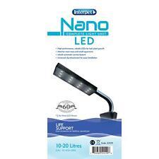 INTERPET NANO LED COMPLETE LIGHT UNIT 10-20 LITRE 20CM AQUARIUM MARINE TANK FISH