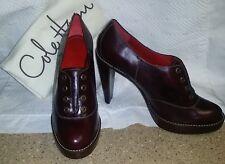 COLE HAAN Stephanie Oxford Platform Heels Pumps Oxblood/Black Size 10 B GORGEOUS