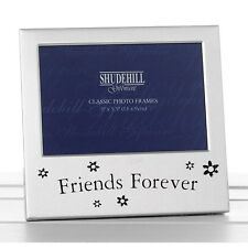 'Friends Forever' Satin Silver Photo Frame-Shudehill