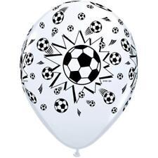 "Black & White Football 11"" Qualatex Latex Balloons x 25"