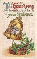 Merry Christmas Holiday Postcard 1910 JOHN WINSCH SIGNED Artist Bell 183