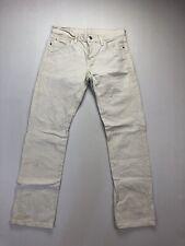 LEVI'S 501 Jeans - W27 L32 - White - Great Condition - Men's