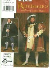 Simplicity Renaissance Mens XL XXL Chest 55-59 Henry VIII Costume Sewing Pattern