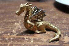 Flogel Gold and Silver Plated Porcelain Dragon Figurine, Germany