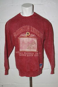 VTG Nutmeg Washington Redskins Crewneck Sweatshirt Made in USA Sz L Large