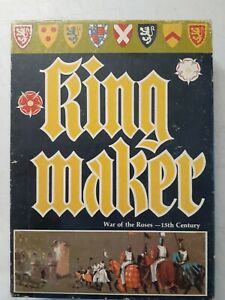 King Maker: War of the Roses - 15th Century Board Game Bookcase Game Avalon Hill