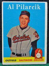 1958 Topps Baseball Card, #259 Al Pilarcik, Baltimore Orioles - VG