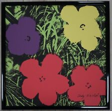 E - Andy Warhol Flowers Lithograph Limited 2400 pcs.