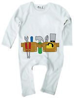Dirty Fingers Baby Boy Romper Suit Builder DIY Tool Belt Tool Kit Hammer Tools
