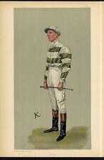 HORSE RACING JOCKEY JOHN WATTS VANITY FAIR CARICATURE MANCHESTER GOODWOOD CUPS