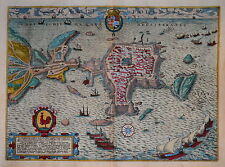ITALY. GALLIPOLI BY BRAUN & HOGENBERG 1598