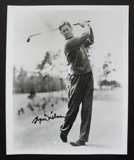 Photo signed by professional golfer BYRON NELSON, with COA