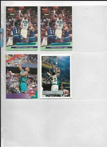 4 Alonzo Mourning Cards ~ 1992-93 Fleer Ultra RC #234 (X2), Upper Deck #457,P44