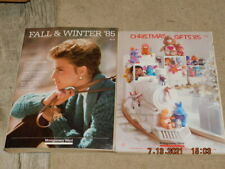 2 ORIGINAL VG/NM 1985 MONTGOMERY WARD CHRISTMAS GIFTS AND FALL & WINTER CATALOGS