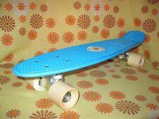 Vintage Ancien SKATE-BOARD SKATEBOARD BLEU Roller Skates Patins à Roulettes