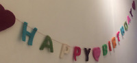 Sass & Belle HAPPY BIRTHDAY 🥳 Felt Wall Party Bunting Decoration BARGAIN! 🎉